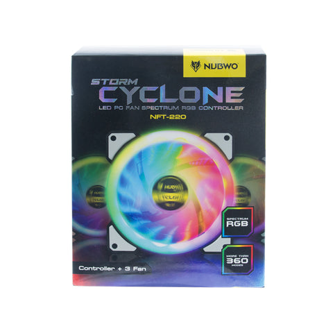 Nubwo Storm Cyclone NTF-220 LED PC FAN Spectrum RGB Controller