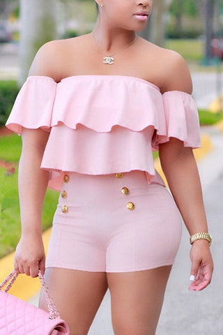 Cotton Candy Dream  Shorts Set Two Piece