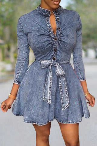 Denim Flow Dress