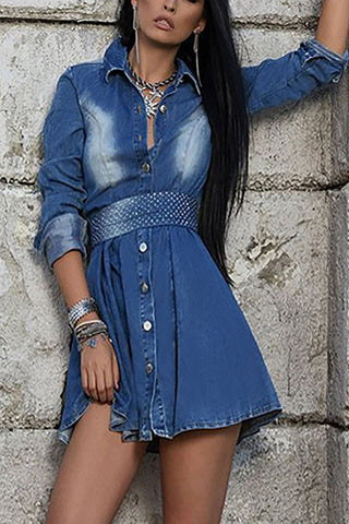 Denim Love Fashion Dress