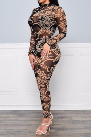 Diamond Treasures Jumpsuit One Piece - Miracles Fashion Boutique