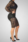 Girl On Fire Lace Fashion Dress
