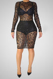 Girl On Fire Lace Fashion Dress - Miracles Fashion Boutique