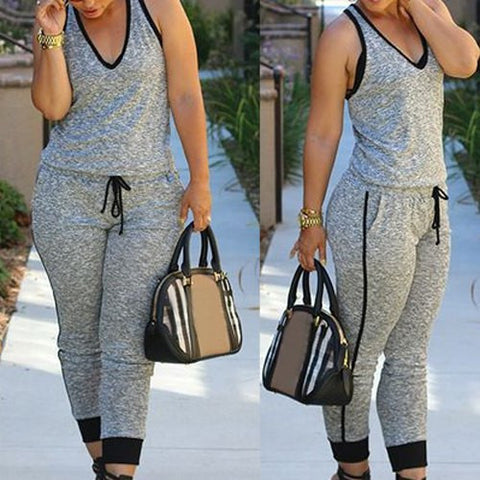 Cute Grey Jumpsuit - Miracles Fashion Boutique