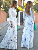 Life is a Beach Shirt Maxi Dress