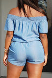 Rock My World Denim One Piece Romper - Miracles Fashion Boutique