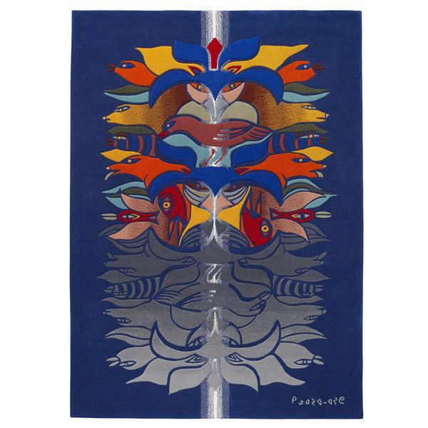 Kenojuak Ashevak artwork 'SHAMAN-REFLECTIONS-WHITE GEM   CIRCA 2010' available at Canada House Gallery - Banff, Alberta