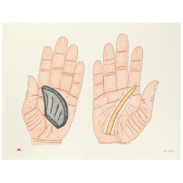 Siassie Kenneally artwork 'TUNIQTAVINIIT (ARTIFACTS) 10/50' available at Canada House Gallery - Banff, Alberta