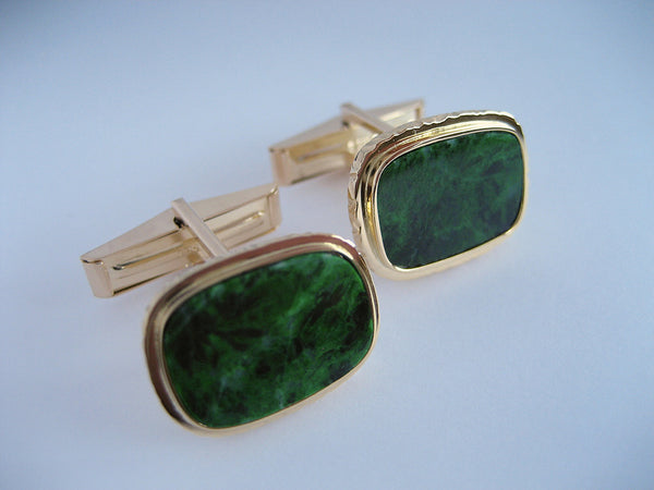 Susan Kun artwork 'EXOTIC MAW-SIT-SIT CUFFLINKS, 18K GOLD & 7.32ctw STONES' available at Canada House Gallery - Banff, Alberta