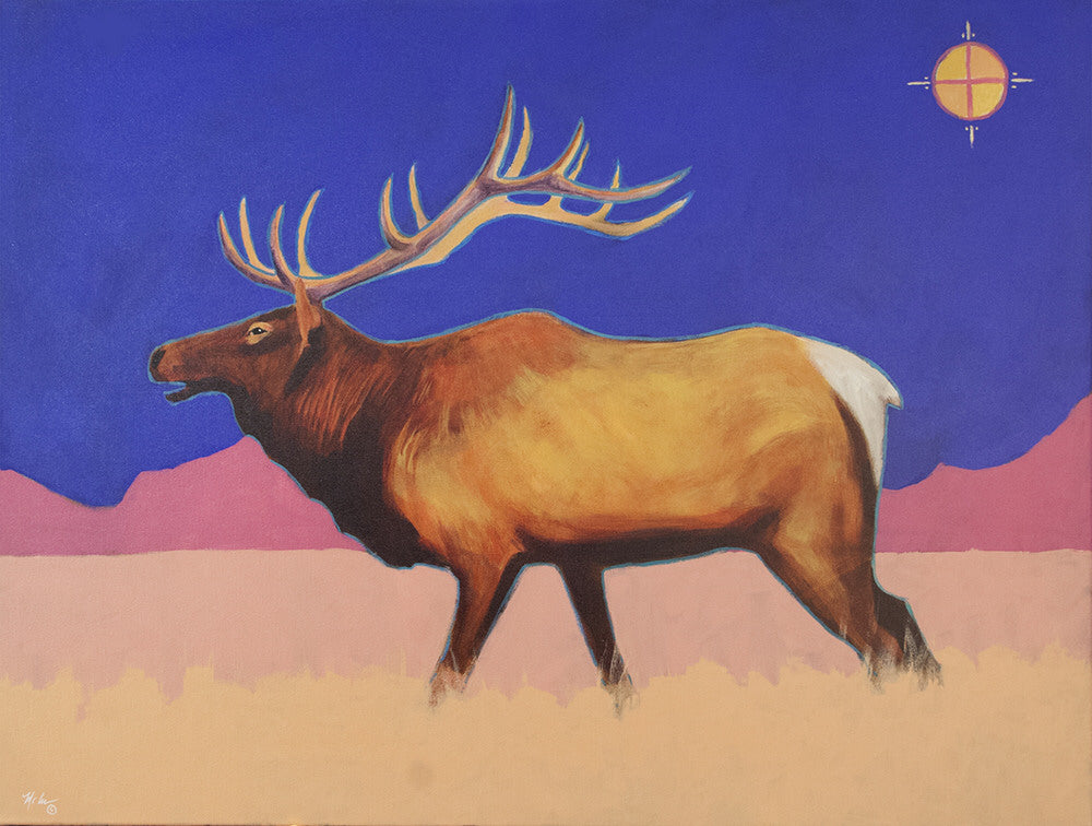 Terry McCue artwork 'MEDICINE MOON' available at Canada House Gallery - Banff, Alberta