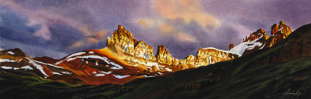 Jennifer Annesley artwork 'DOLOMITE PEAK' available at Canada House Gallery - Banff, Alberta
