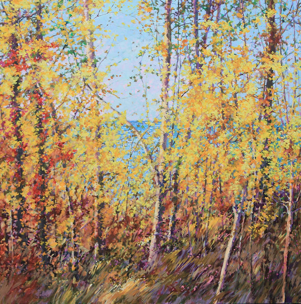 Bev Rodin artwork 'FOREST LIGHT SERIES - TANGLED JOY AND GRACE' available at Canada House Gallery - Banff, Alberta