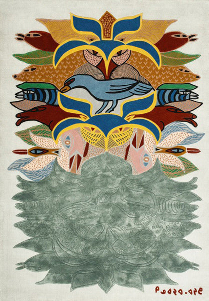 Kenojuak Ashevak artwork 'SHAMAN CELEBRATION - CARPET' available at Canada House Gallery - Banff, Alberta