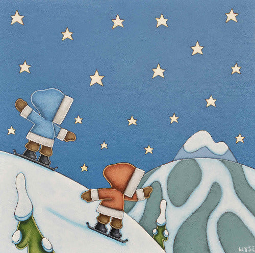 Peter Wyse artwork 'NIGHT SHREDDERS' available at Canada House Gallery - Banff, Alberta