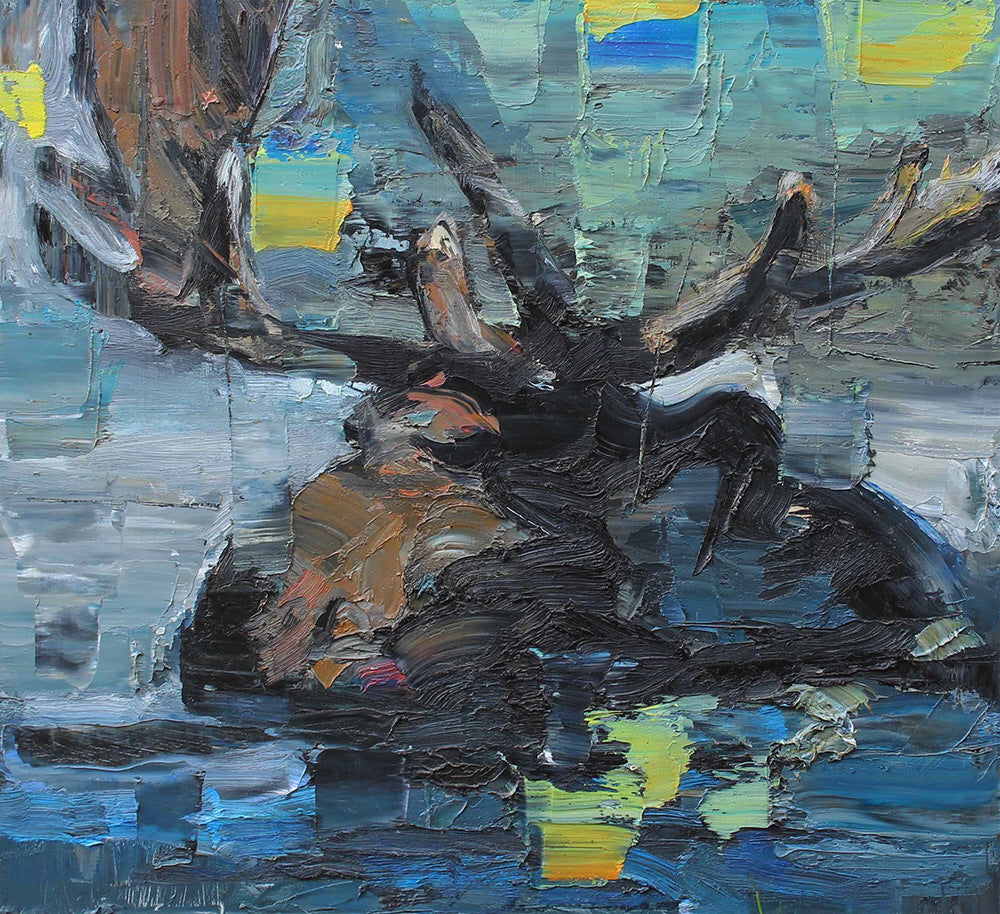 John Macdonald artwork 'UNTITLED (MOOSE)' available at Canada House Gallery - Banff, Alberta
