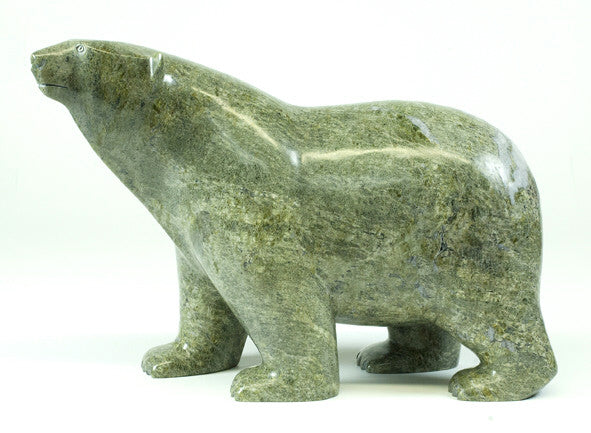 Ashevak Adla artwork 'POLAR BEAR' available at Canada House Gallery - Banff, Alberta