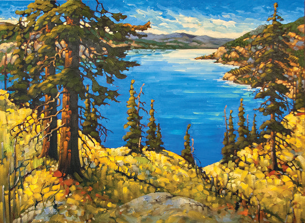 Rod Charlesworth artwork 'AUTUMN RIDGE, OKANAGAN' available at Canada House Gallery - Banff, Alberta