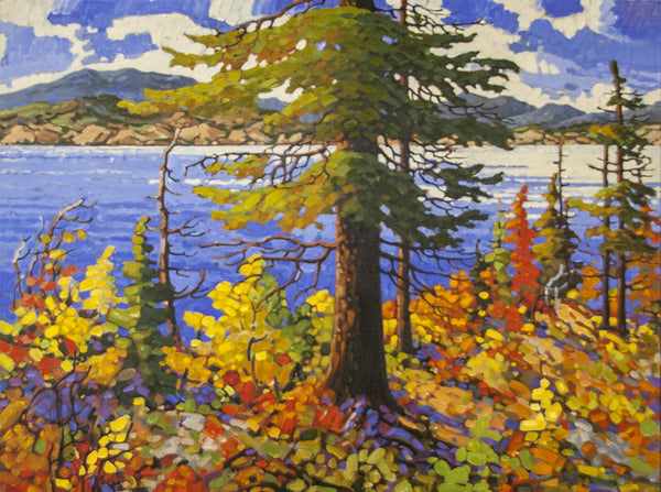 Rod Charlesworth artwork 'BRIGHT AUTUMN, OKANAGAN' available at Canada House Gallery - Banff, Alberta