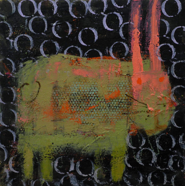 Kathie Thomas artwork 'RABBIT' available at Canada House Gallery - Banff, Alberta