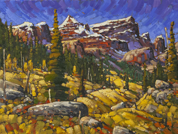 Rod Charlesworth artwork 'MOUNT LOUGHEED, LATE SEPTEMBER' available at Canada House Gallery - Banff, Alberta