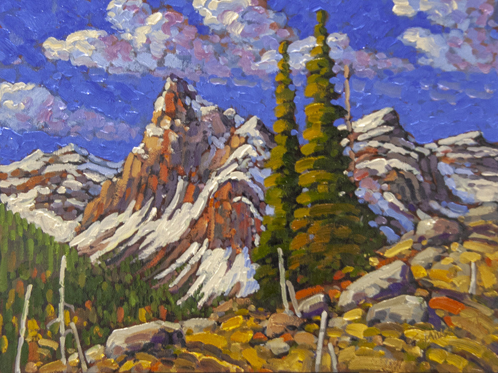 Rod Charlesworth artwork 'VALLEY OF THE TEN PEAKS' available at Canada House Gallery - Banff, Alberta
