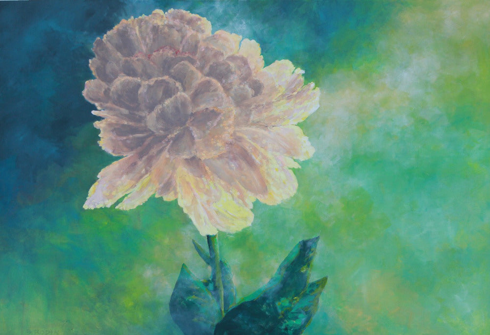 Bev Rodin artwork 'PAEONIE - SPRING' available at Canada House Gallery - Banff, Alberta