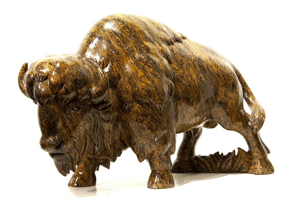 Ken Q Li artwork 'BISON' available at Canada House Gallery - Banff, Alberta