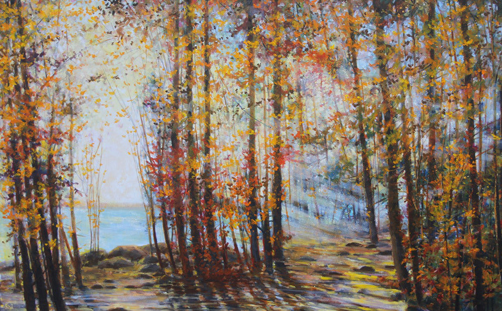 Bev Rodin artwork 'FOREST LIGHT SERIES - THE SAME BEAUTIFUL SPOT' available at Canada House Gallery - Banff, Alberta