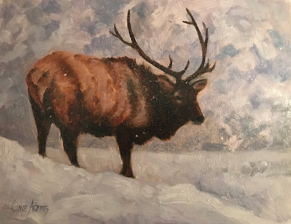 Gaye Adams artwork 'EXPECTED SNOWFALL' available at Canada House Gallery - Banff, Alberta
