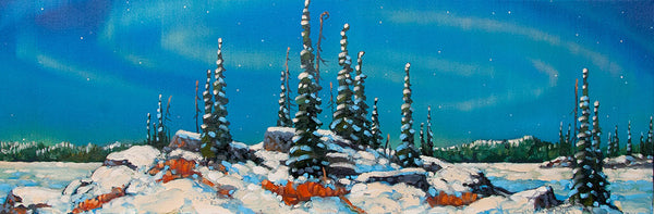 Rod Charlesworth artwork 'DECEMBER, NORTHERN OUTCROP' available at Canada House Gallery - Banff, Alberta