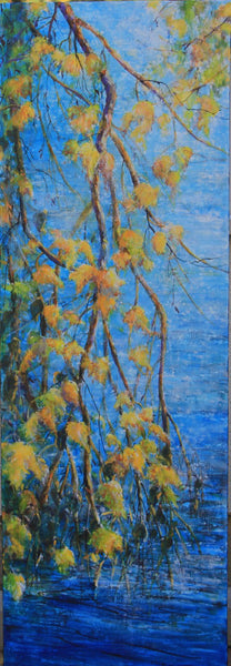 Bev Rodin artwork 'BIRCH' available at Canada House Gallery - Banff, Alberta