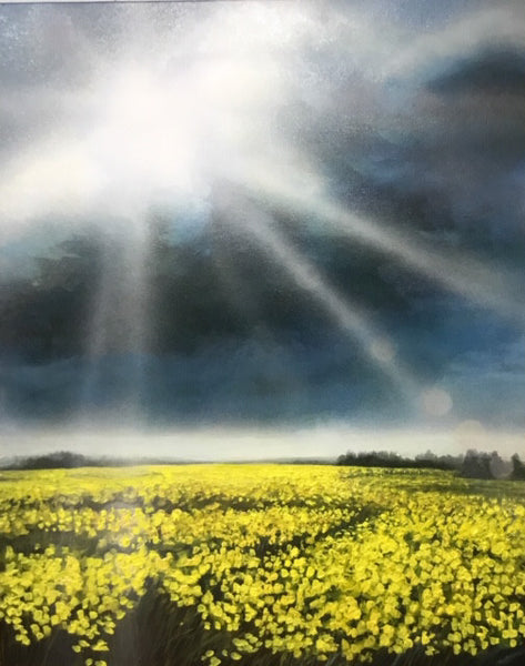 Richard Cole artwork 'CANOLA 18025' available at Canada House Gallery - Banff, Alberta