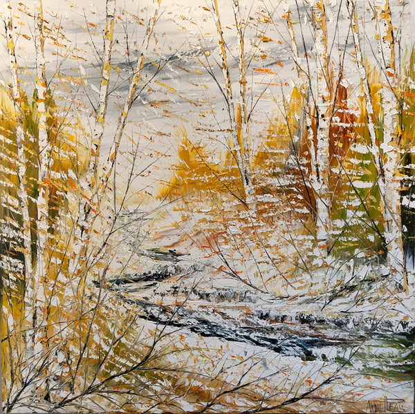 André Pleau artwork 'MATIN D'HIVER' available at Canada House Gallery - Banff, Alberta