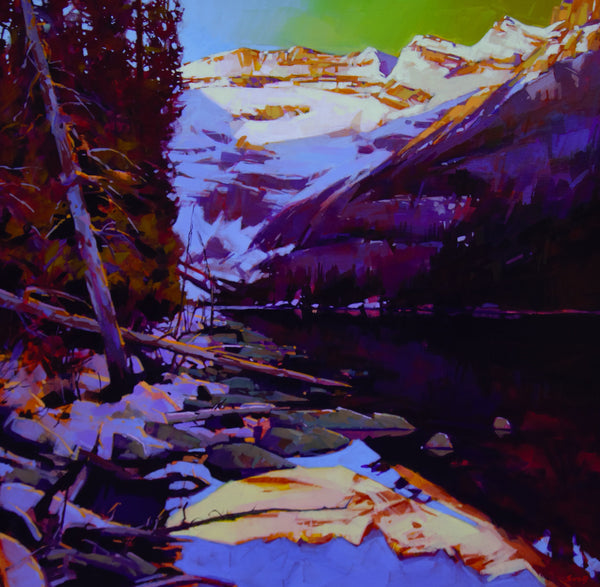 Mike Svob artwork 'SUNRISE ON THE SOUTH SHORE, LAKE LOUISE' available at Canada House Gallery - Banff, Alberta