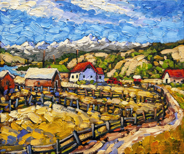 Rod Charlesworth artwork 'SEPTEMBER, MORLEY, AB' available at Canada House Gallery - Banff, Alberta