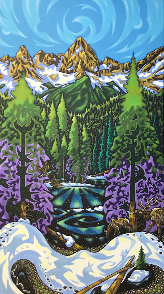K Neil Swanson artwork 'SONG OF ISLAND LAKE' available at Canada House Gallery - Banff, Alberta