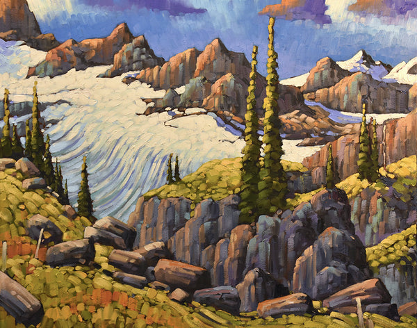 Rod Charlesworth artwork 'THE RIDGE OVER ZILLMER' available at Canada House Gallery - Banff, Alberta