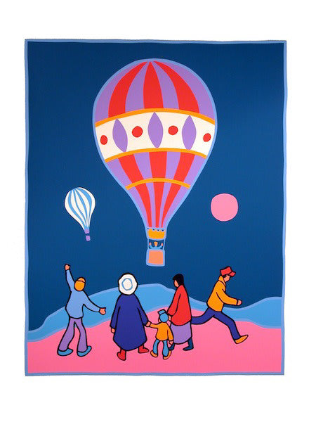 Ted Harrison artwork 'BALLOONING 171/200' available at Canada House Gallery - Banff, Alberta