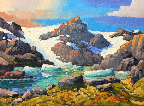Rod Charlesworth artwork 'MELTWATER - CARIBOOS' available at Canada House Gallery - Banff, Alberta