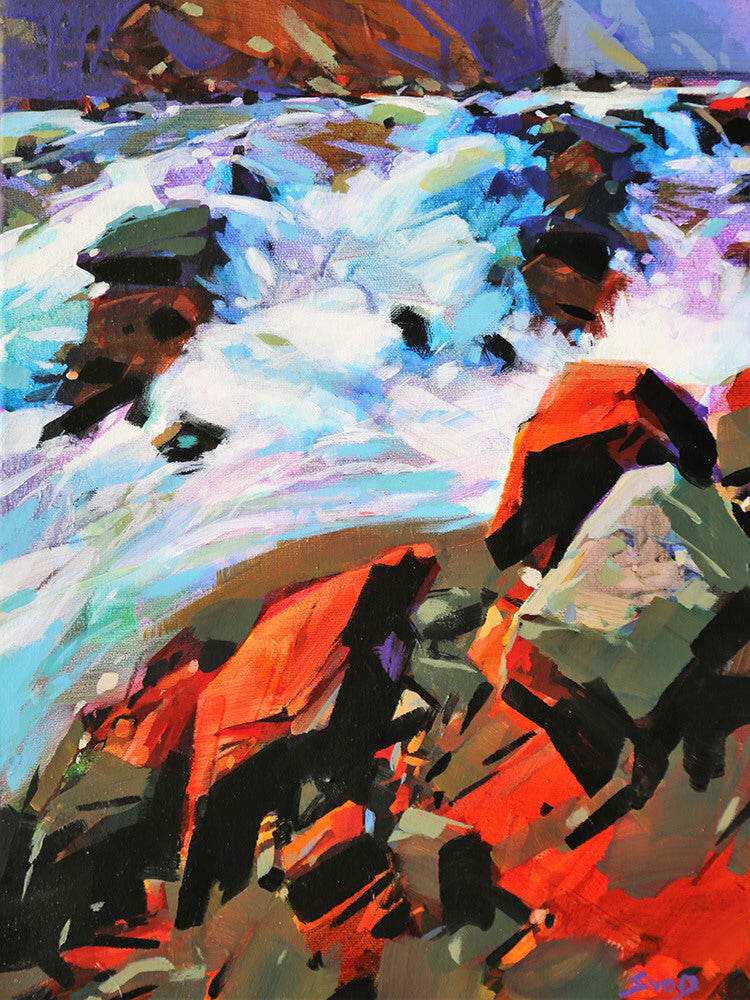 Mike Svob artwork 'MOUNTAIN CHAOS' available at Canada House Gallery - Banff, Alberta