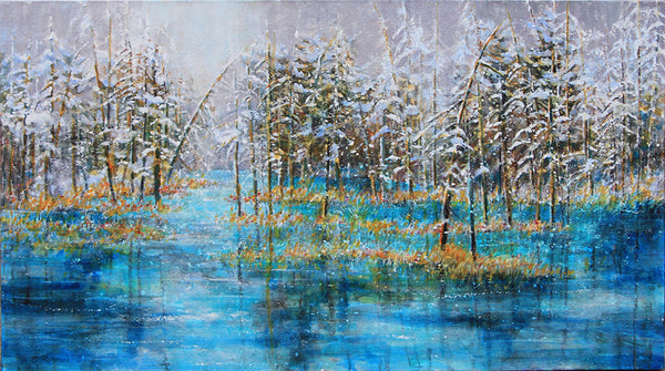 Bev Rodin artwork 'FOREST LIGHT SERIES - CHASING BEAUTY' available at Canada House Gallery - Banff, Alberta