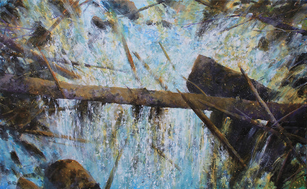 Bev Rodin artwork 'SPRING RUN OFF' available at Canada House Gallery - Banff, Alberta