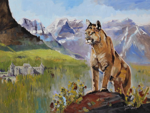 Robert Roy artwork 'LE GARDIEN' available at Canada House Gallery - Banff, Alberta