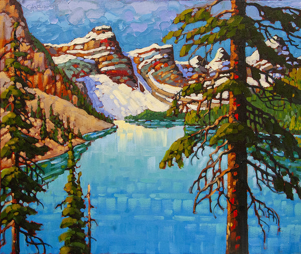 Rod Charlesworth artwork 'MORAINE LAKE VISTA' available at Canada House Gallery - Banff, Alberta