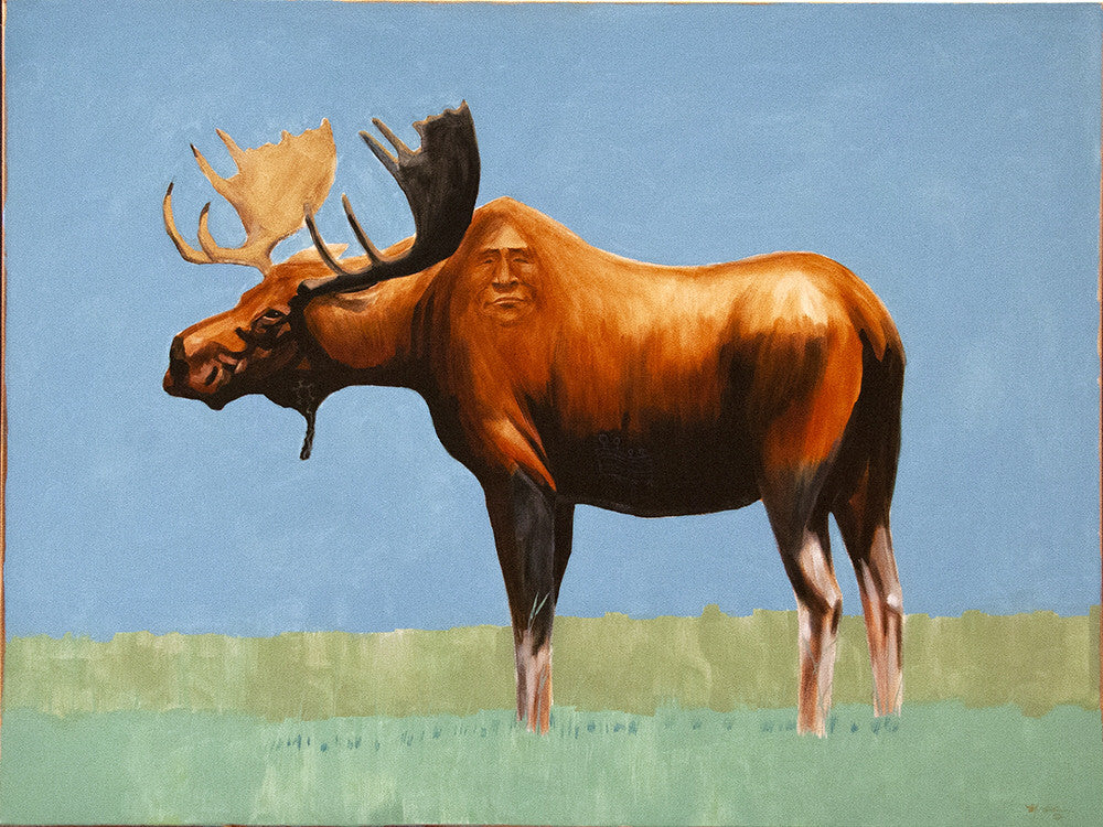 Terry McCue artwork 'SAVIOR STUDY II' available at Canada House Gallery - Banff, Alberta