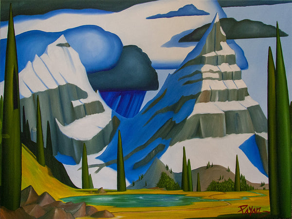 Glenn Payan artwork 'MT CHEPHREN' available at Canada House Gallery - Banff, Alberta