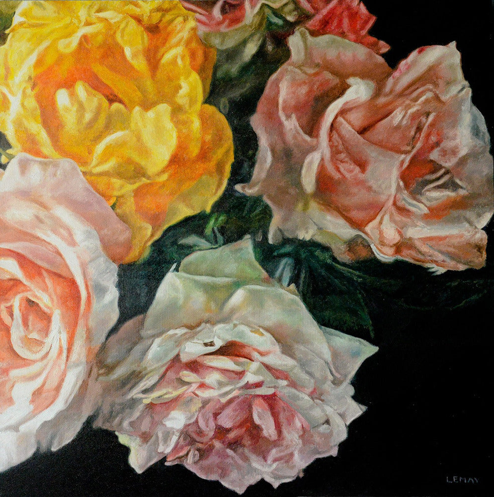 Robert Lemay artwork 'ROSES' available at Canada House Gallery - Banff, Alberta