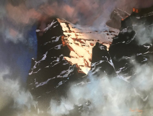 Gaye Adams artwork 'ALPEN GLOW, CATHEDRAL PEAK, YOHO' available at Canada House Gallery - Banff, Alberta