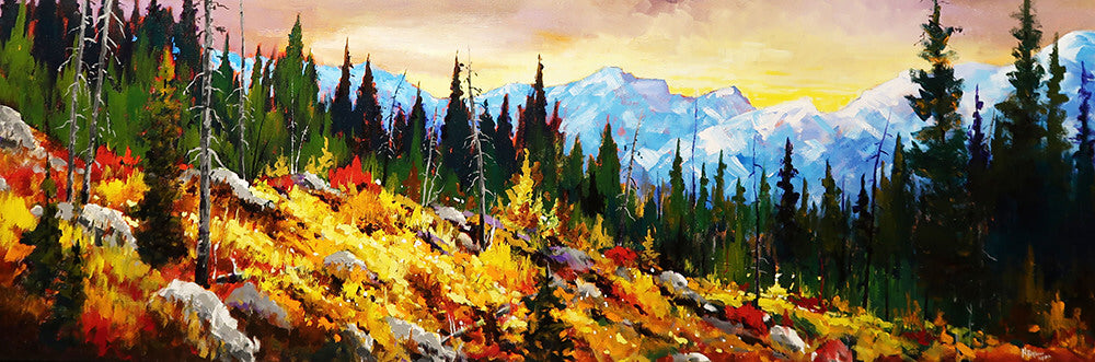 Neil Patterson artwork 'HIGH COUNTRY SLOPE' available at Canada House Gallery - Banff, Alberta