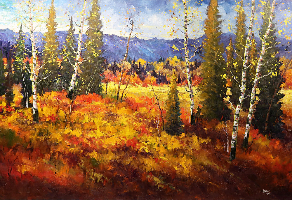 Neil Patterson artwork 'FOOTHILLS COLOUR' available at Canada House Gallery - Banff, Alberta